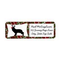 Cavalier King Charles Spaniel Reindeer Christmas Return Address Label