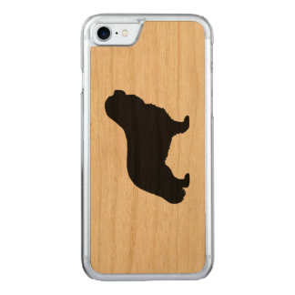 Cavalier King Charles Spaniel Silhouette Carved iPhone 7 Case