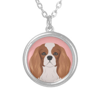 Cavalier King Charles Spaniel Silver Plated Necklace