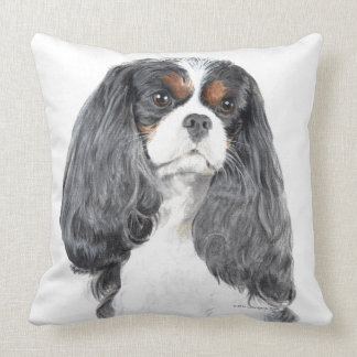 Cavalier King Charles Spaniel Tri Color Pillow