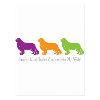 Cavalier King Charles Spaniels Color My World Postcard
