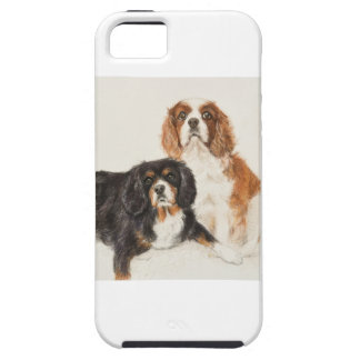 Cavalier King Charles Spaniels painting Case For The iPhone 5