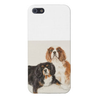 Cavalier King Charles Spaniels painting iPhone 5/5S Case