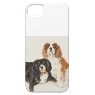 Cavalier King Charles Spaniels painting iPhone 5 Covers