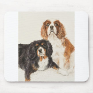 Cavalier King Charles Spaniels painting Mouse Pad