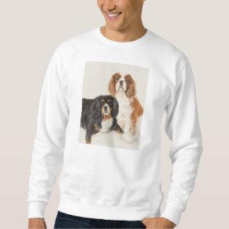 Cavalier King Charles Spaniels painting Sweatshirt