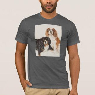 Cavalier King Charles Spaniels painting T-Shirt
