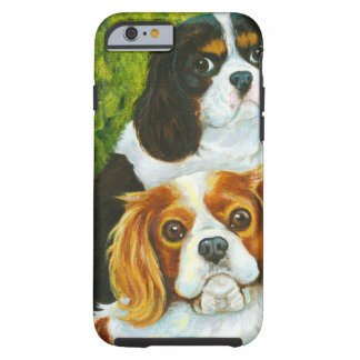 Cavalier King Charles Spaniels Portrait Tough iPhone 6 Case