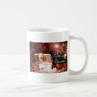 Cavalier puppy Christmas Card Coffee Mug