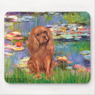 Cavalier (Ruby7) - Lilies 2 Mouse Pad