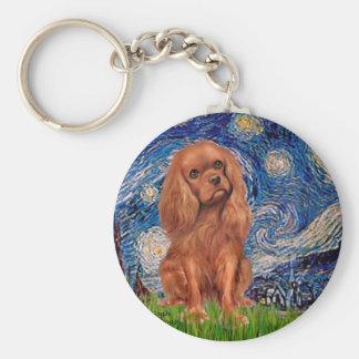 Cavalier (Ruby7) - Starry Night Basic Round Button Keychain