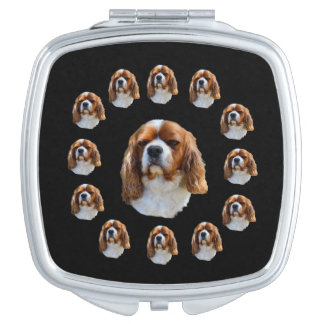 Cavalier Spaniel Dog Face Pattern, Vanity Mirrors