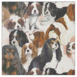 Cavalier Spaniel Mural Collage fabric