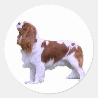 Cavalier Standing Classic Round Sticker