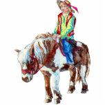 Cavalier sur un poney - un ornement découpages en acrylique