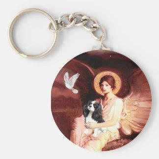Cavalier (Tri5) - Seated Angel Basic Round Button Keychain