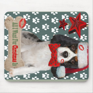 Cavalier Wants For Christmas Kisses Mouse Pad