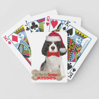 Cavalier Wants For Christmas Kisses Poker Deck