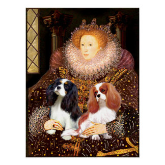 Cavaliers (2) - Queen Elizabeth Poster