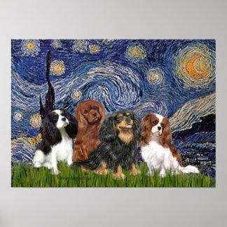 Cavaliers (4) - Starry Night Poster