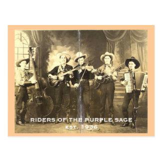 Cavaliers de la sauge pourpre cartes postales