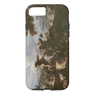 Cavaliers in Battle (oil on canvas) iPhone 7 Case
