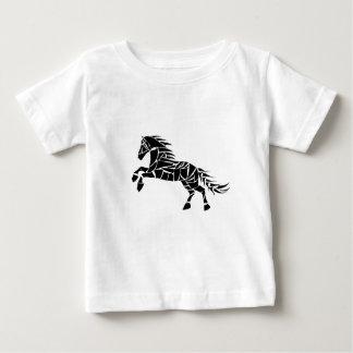 Cavallerone - black horse baby T-Shirt