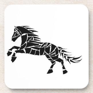 Cavallerone - black horse beverage coaster