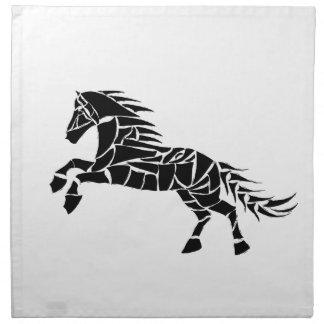 Cavallerone - black horse napkin
