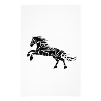 Cavallerone - black horse stationery