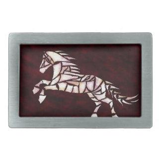 Cavallerone - white horse belt buckle