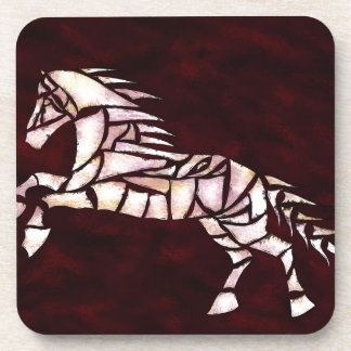 Cavallerone - white horse drink coaster