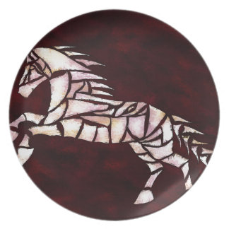 Cavallerone - white horse plate