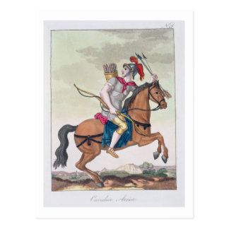Cavalry Archer, from 'L'Antica Roma', 1825 (colour Postcard