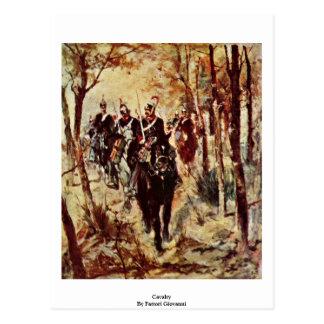 Cavalry By Fattori Giovanni Postcard
