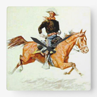 """""""Cavalry Officer"""" by Frederick Remington Wall Clock"""