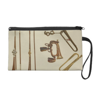 Cavalry trumpet, a bugle, a gilt trumpet made by J Wristlet Purse