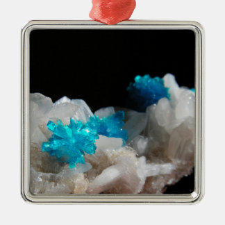 Cavansite on Stilbite Metal Ornament