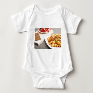 Cavatappi Pasta with sauce of stewed vegetables Baby Bodysuit