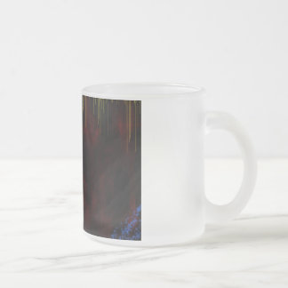 cave 10 oz frosted glass coffee mug
