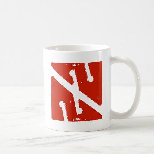 cave arrow flag coffee mug