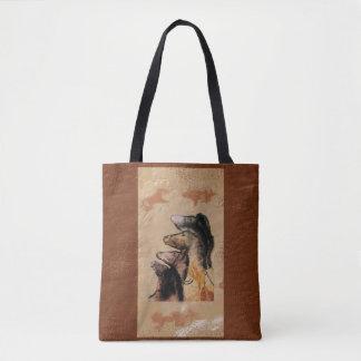 Cave Art: Horse Heads Tote Bag
