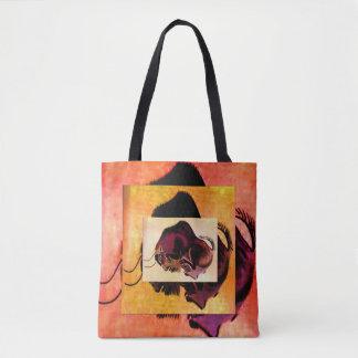 Cave Art Resting Buffalo Tote Bag