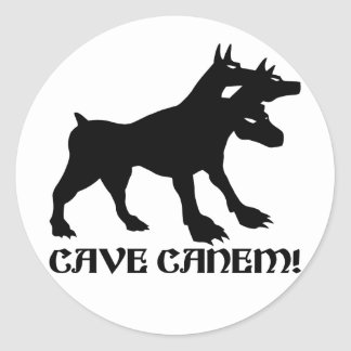 CAVE CANEM - BEWARE OF DOG Latin Classic Round Sticker