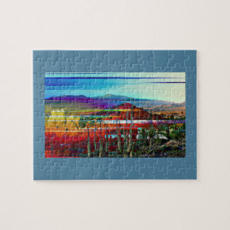 Cave Creek Abstract Landscape Picture Puzzle