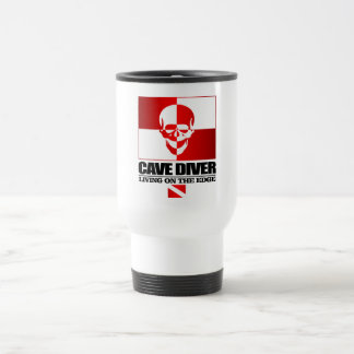 Cave Diver -Living On The Edge 15 Oz Stainless Steel Travel Mug