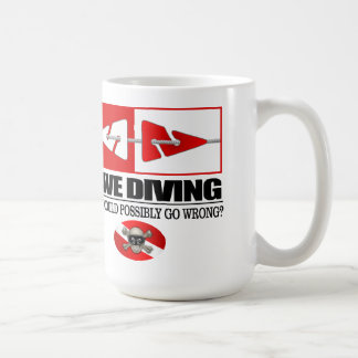 Cave Diving (Line Markers) Coffee Mugs