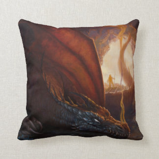 Cave Dragon Throw Pillow