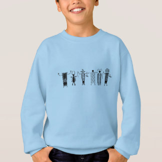 Cave Drawing Peoples Kids shirt