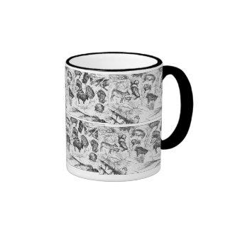 cave drawings ringer mug